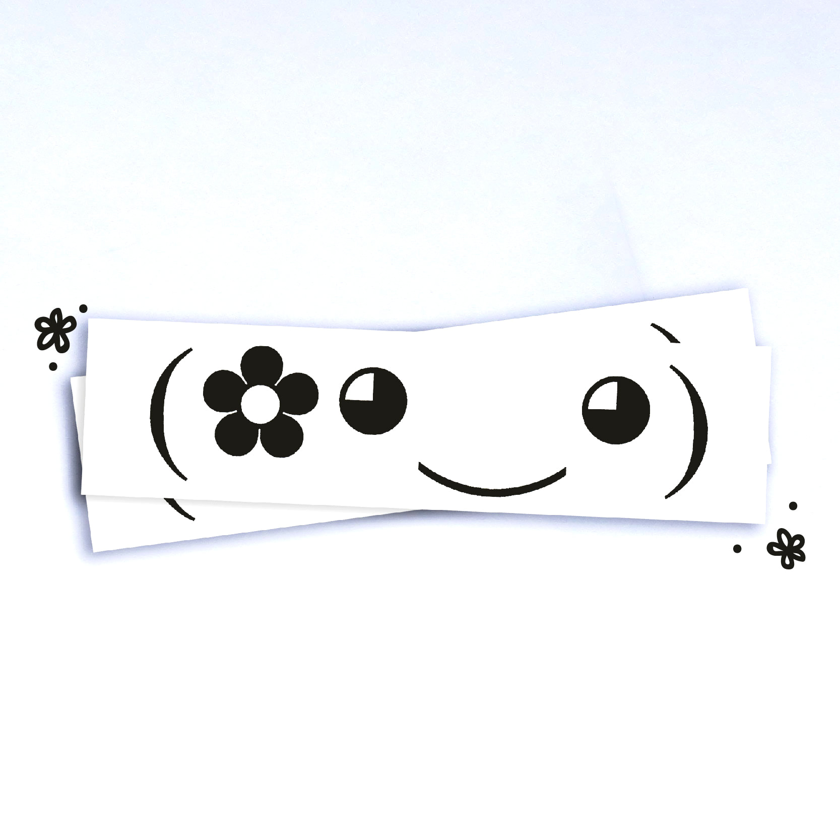 Flower pal kawaii emoji vinyl sticker 5 5x1 5
